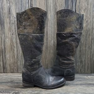 Steven Reins Distressed Riding Boot